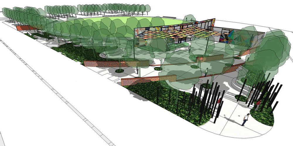 An artists impression of the proposed new youth area in the south east corner of Midland Park