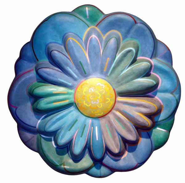Blossom. Acrylic on papier-mâché, 24 x 24 inches, edition 3/7. Art No. 6802.