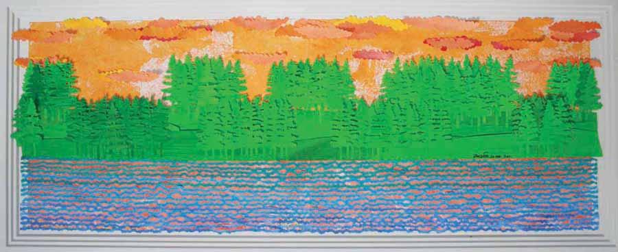 Untitled. Papier du collage, 12 x 34 inches. Art No. 9085.
