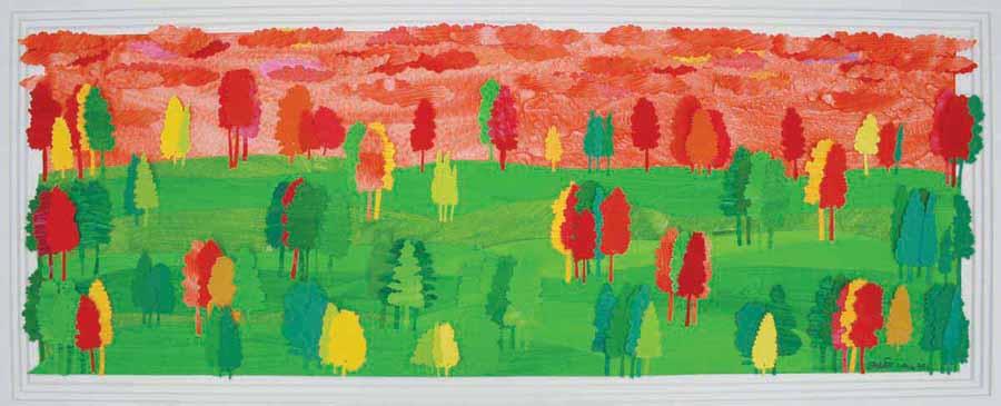 Untitled. Papier du collage, 12 x 34 inches. Art No. 9082.