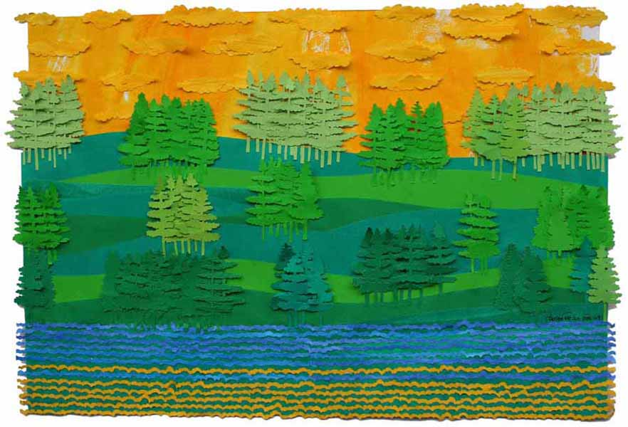 Untitled. Papier du collage, 18 x 24 inches. Art No. 9051.