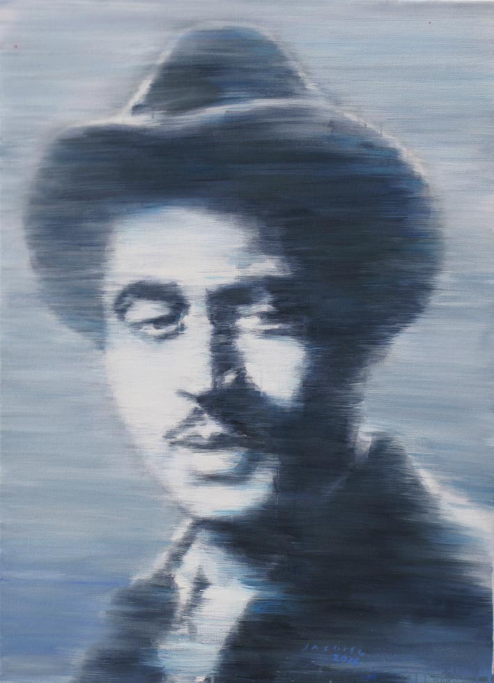 Guru Dutt, 2016, Acrylic on Canvas, 105 cm x 75 cm, Art No: 12716