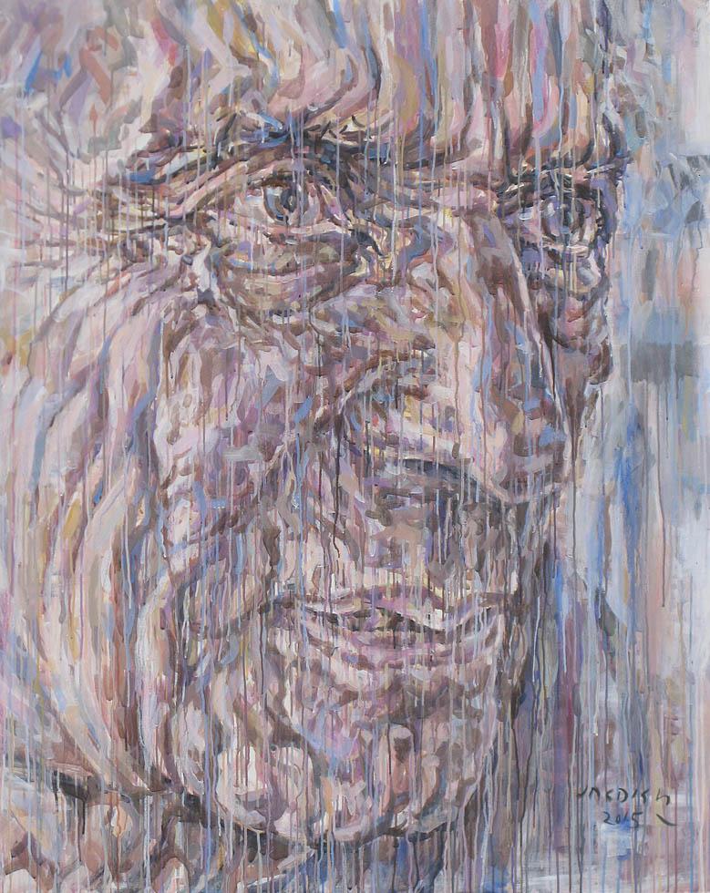 "Poet , Acrylic on Canvas, 60""x 40"", Art No: 12243"