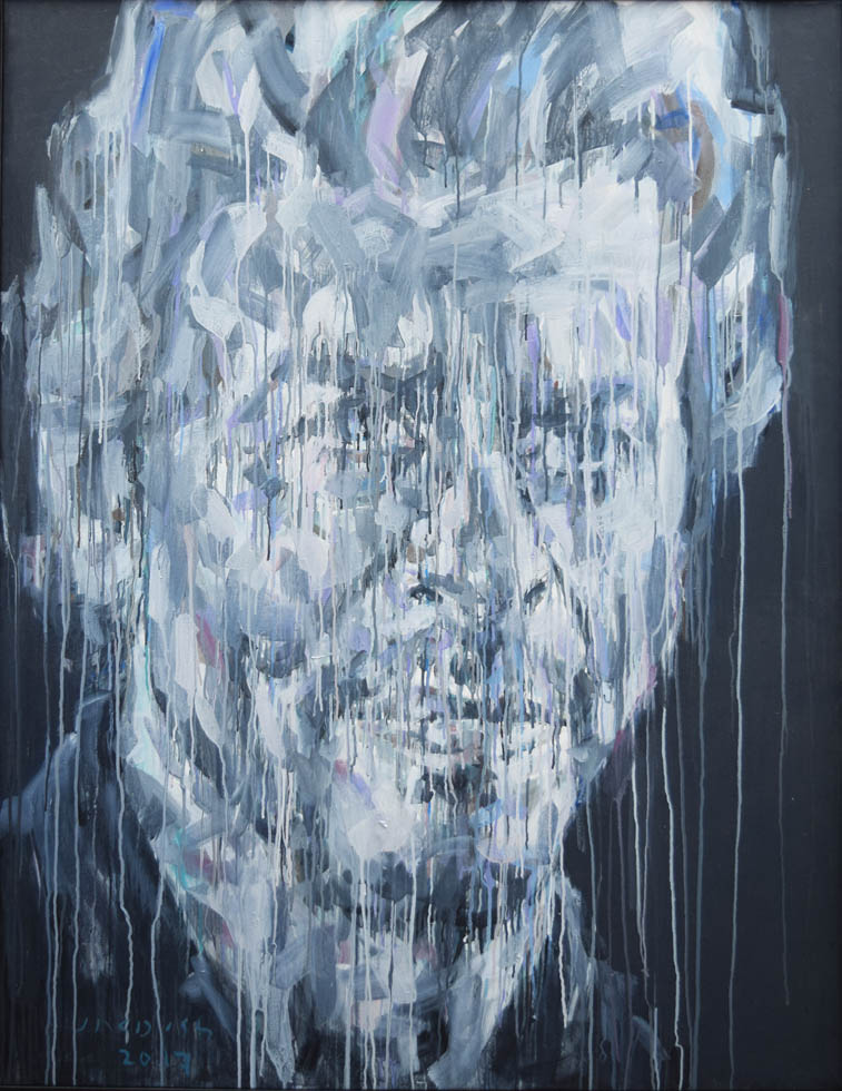"Untitled- S, 2017, Acrylic on Canvas, 55""x 42.5"", Art No; 12889"