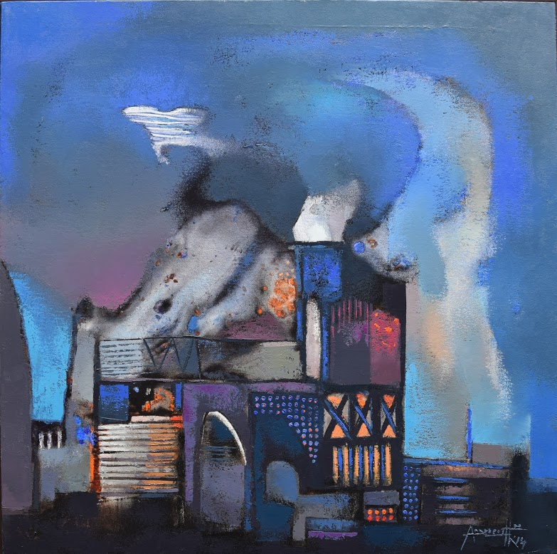 Structures. Oil on canvas, 30 x 30 inches. Art No. 12332.