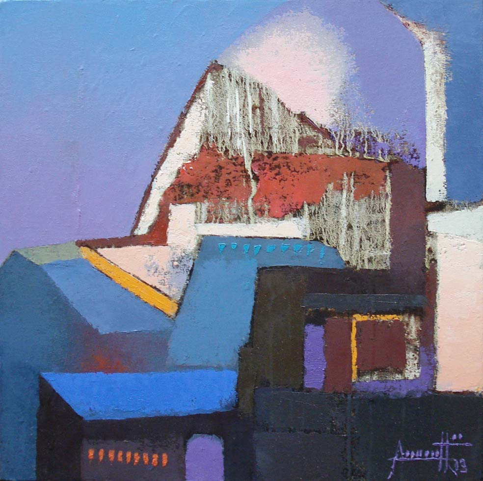 Structures. Oil on canvas, 18 x 18 inches. Art No. 11114.