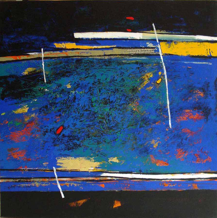 Equilibre. Acrylic on canvas, 100 x 100 cms. Art No. 6542.