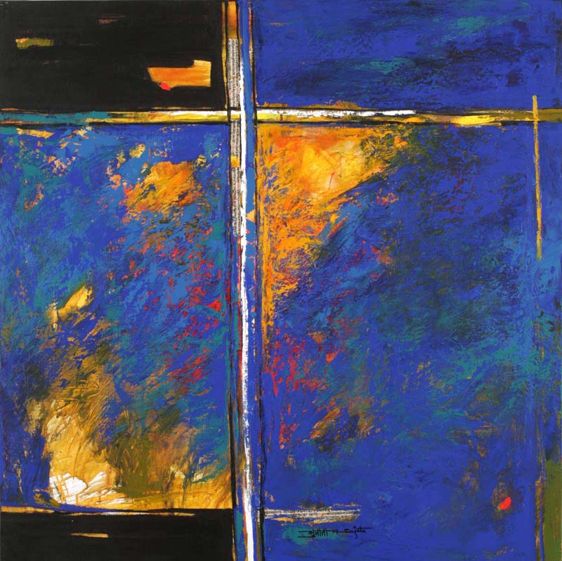 Equilibre. Acrylic on canvas, 100 x 100 cms. Art No. 5556.