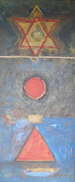 Untitled. Oil on canvas, 69 x 20 inches. Art No. 3471.