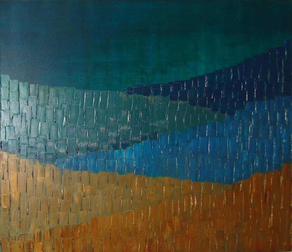 Night Scape. Acrylic on canvas, 36 x 48 inches. Art No. 9115.