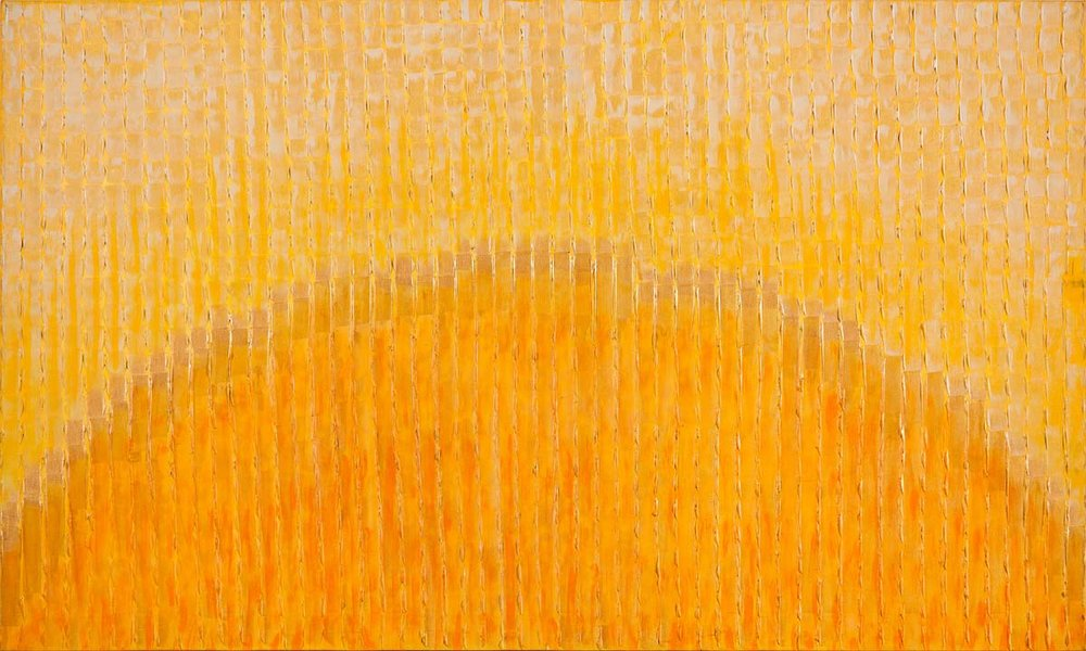 Sun. Acrylic on canvas, 36 x 60 inches, 2014. Art No. 7717.
