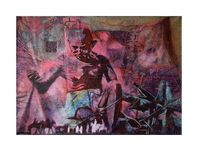 """The future depends on what you do today"" - Mahatma Gandhi . . . . ""Silk Root"", 2013, Acrylic Oil Ink on Canvas, 4ft x 5ft, Artist - Jaideep Mehrotra . . . . . . . . #TaoArtGallery #MahtamaGandhi #Gandhi #Mahatma #GandhiJayanthi #2 #October #Art #JaideepMehrotra #Artist #Mumbai #Painter"