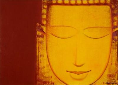 "Budhha, 2008, Oil on Canvas, 60""x 84"", Art No: 6899"