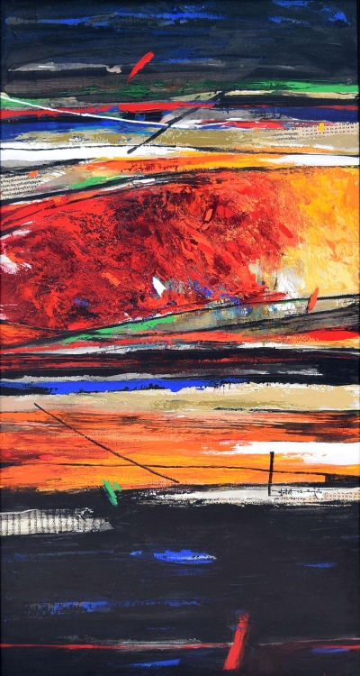 Beyond, 2005, Acrylic on canvas, 150cm x 80cm , Art No: 11093