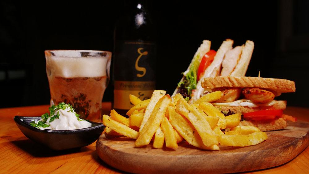 club and chicken club sandwich