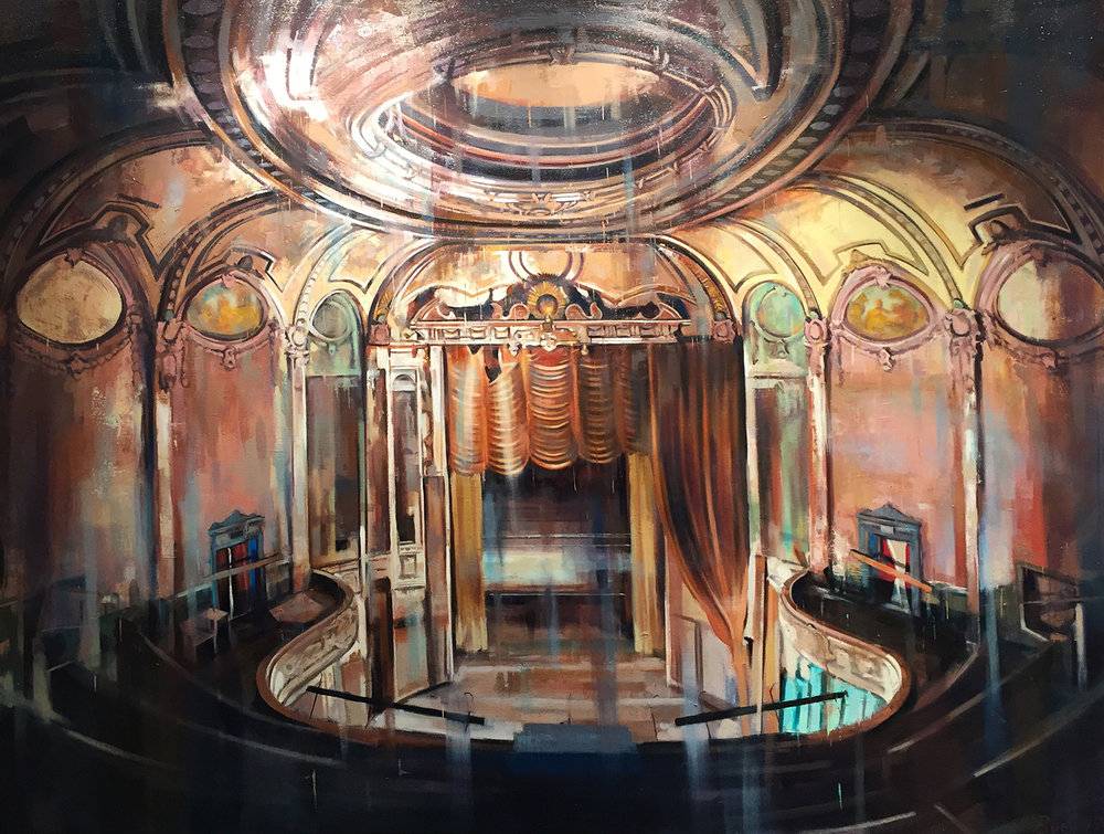 "Horseshoe (Parkway Theatre), Oil on Linen (40"" x 52"")"