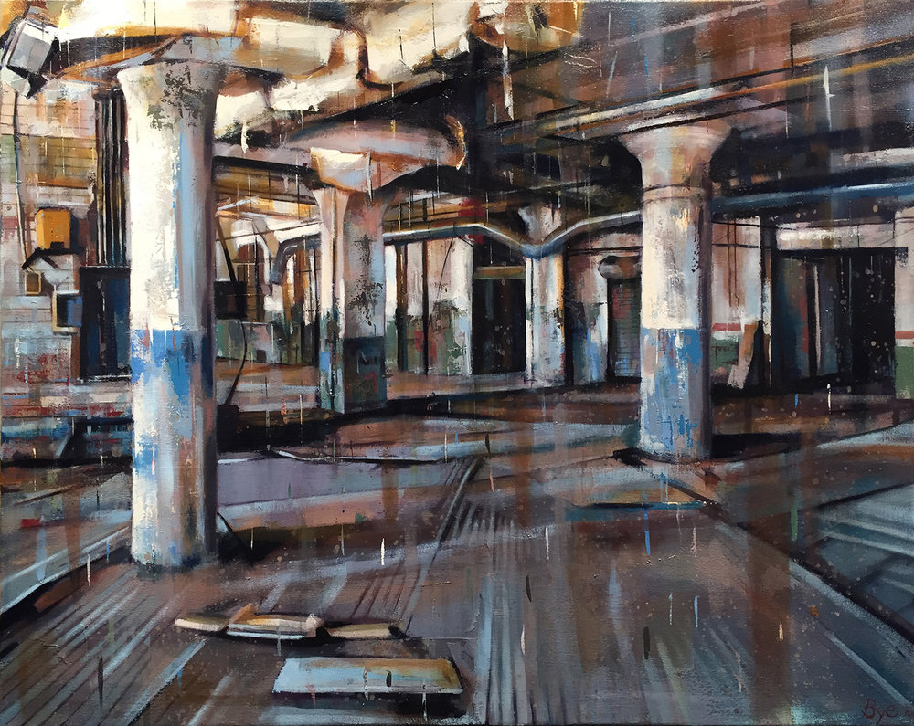 "Cold Storage, Oil on Canvas (30"" x 24"")"