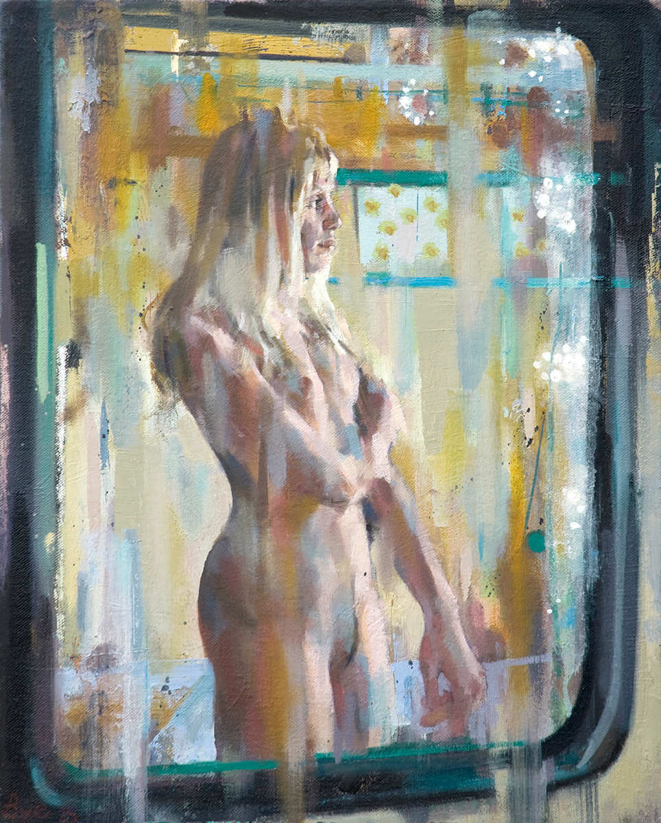 "Reflection, Oil on Linen (20"" x 16"")"