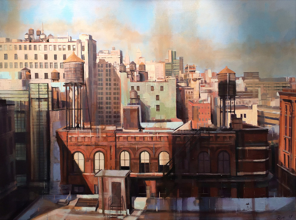 "Towers (Soho Manhattan), Oil on Canvas (30"" x 40"")"