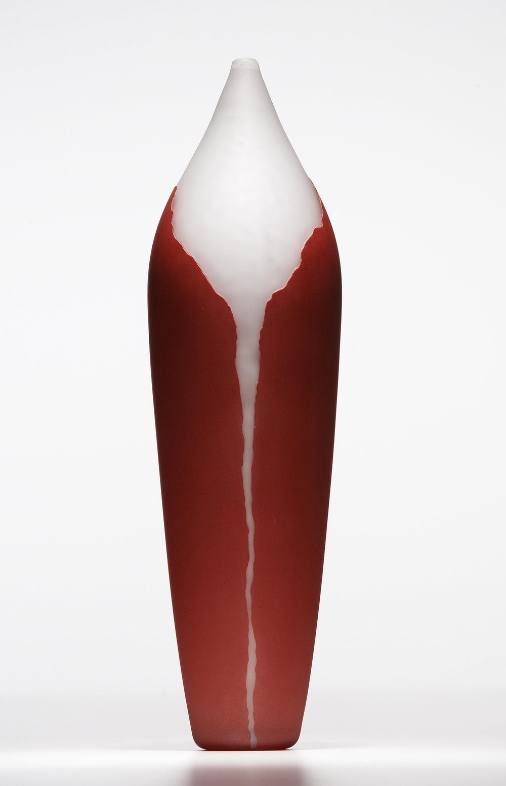 red gorge vase