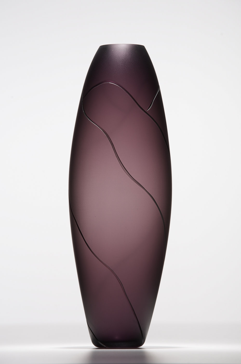 purple landscape vase