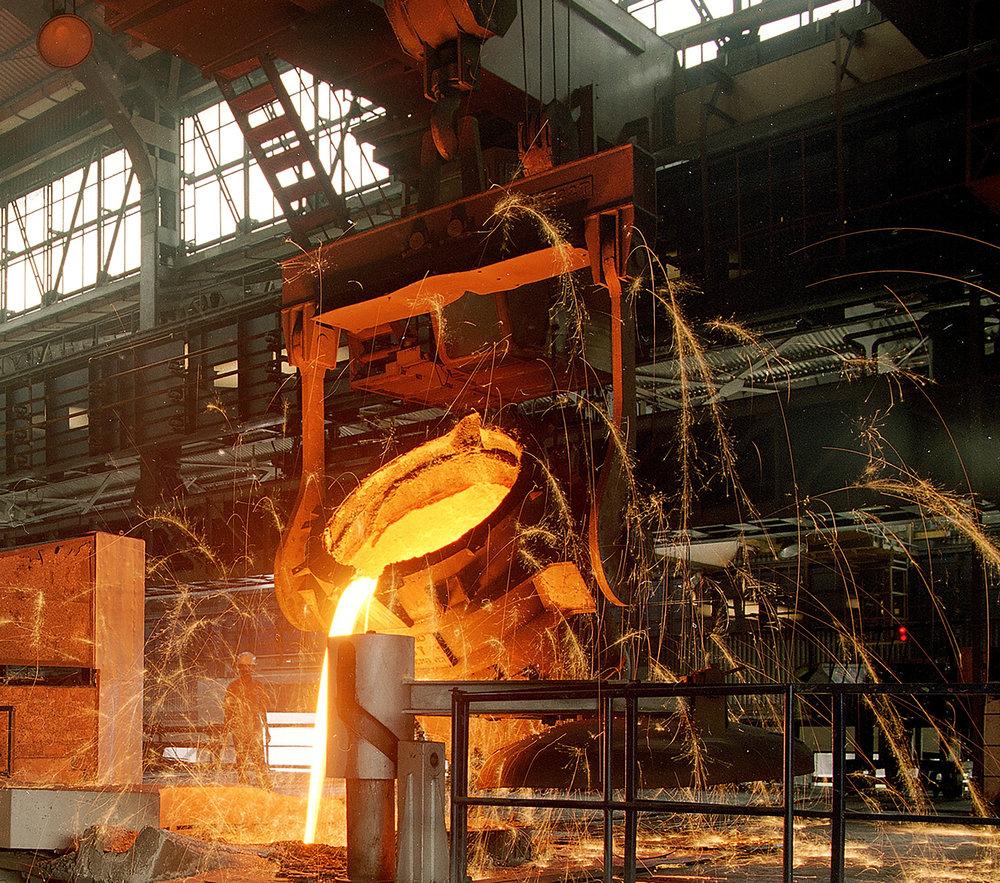 Melting iron ore-Kirloskar Ferrous.jpg