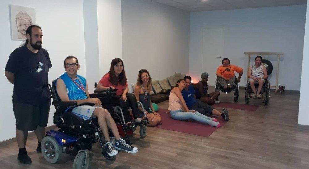 Alumnos de Aspaym en  Palmabalance , Julio 2.18