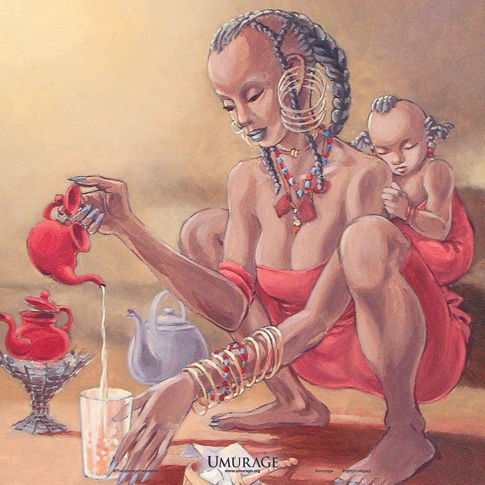 Nomadic Woman Preparing Tea
