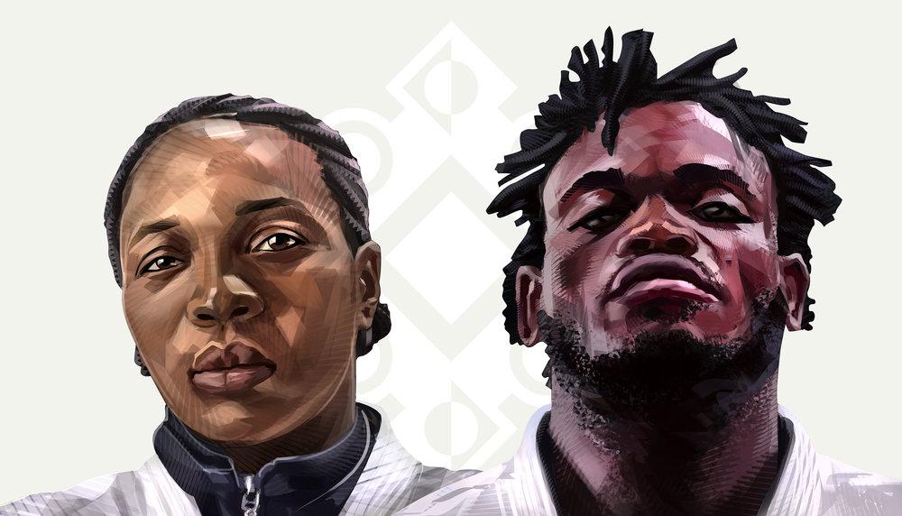 The UMURAGE_Legacy Makers Yolande Bukasa Mabika and Popole Misenga