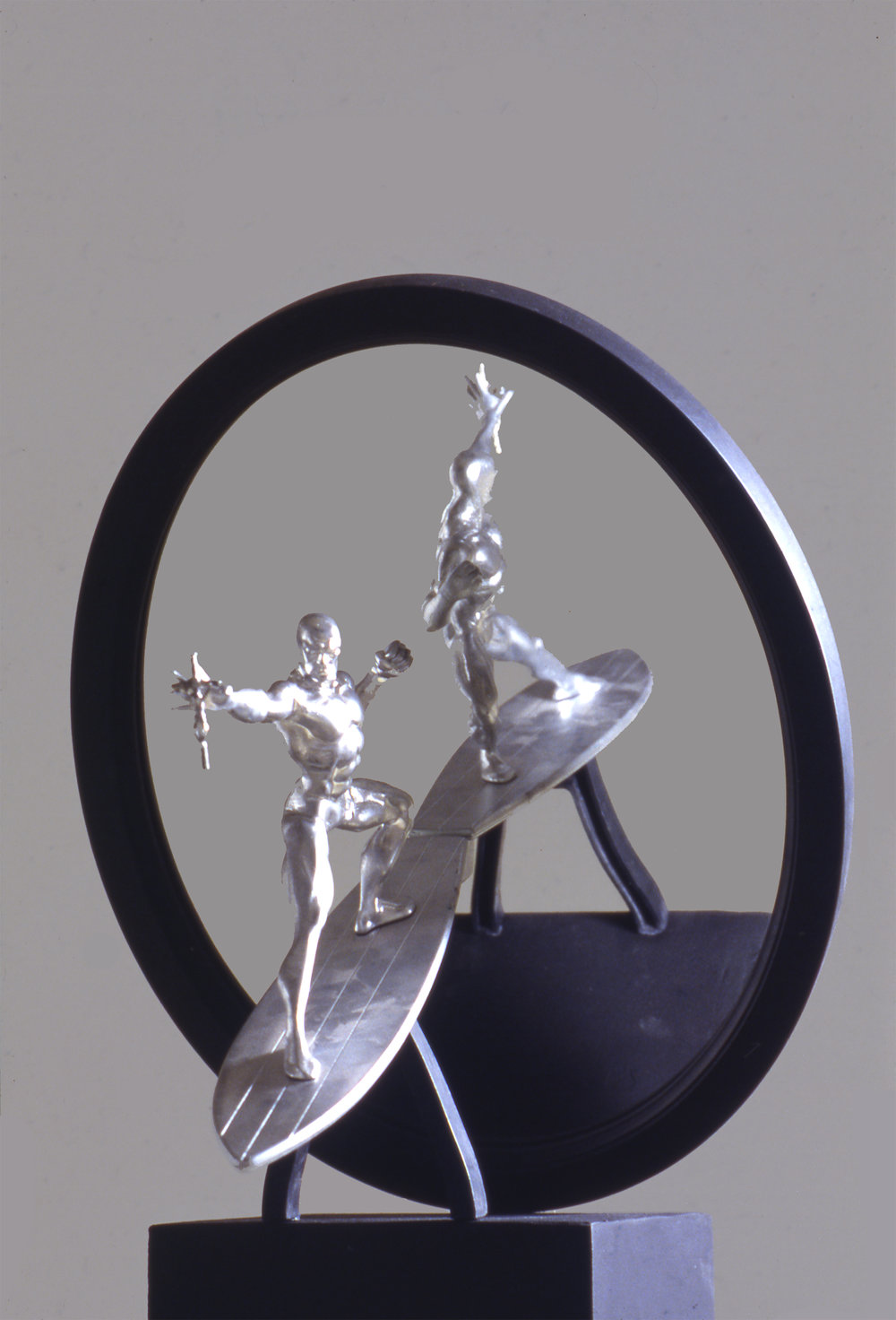 SILVER SURFER - TEMPUS FUGIT - REYKJAVIK - ICELAND , 1998 . Mixed media. Photo: Claudio Abate