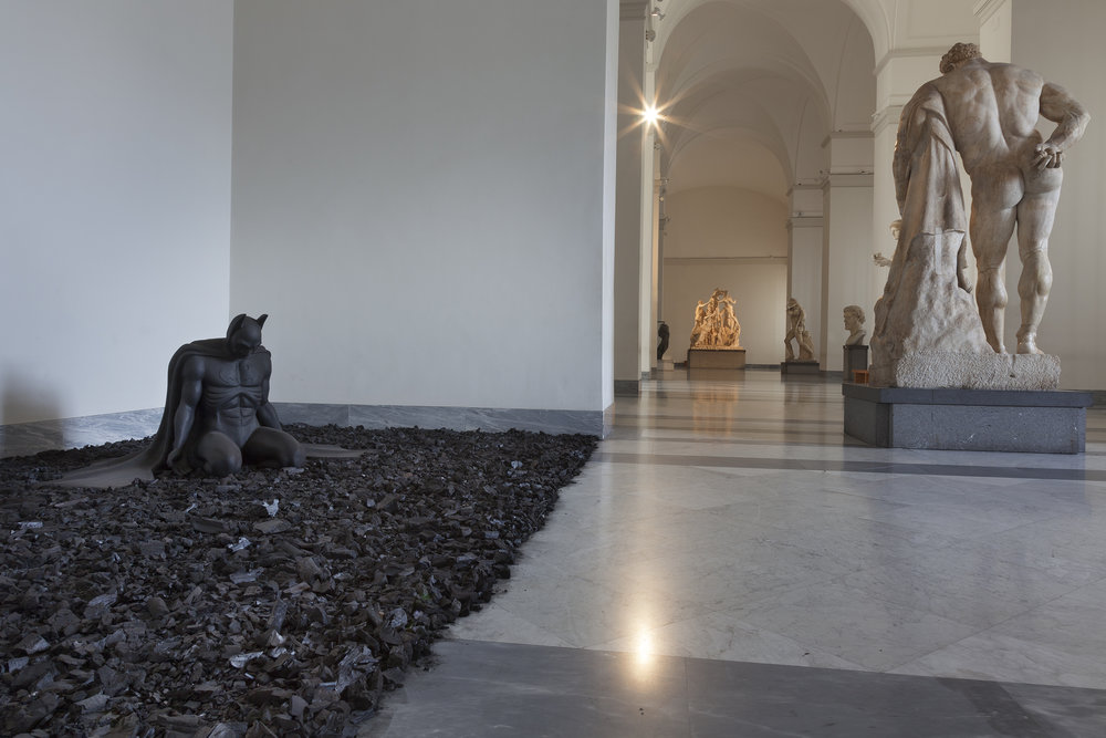 Back in Black , 2005 . MANN - Museo Archeologico Nazionale di Napoli, Naples 2016. Installation view. Photo: Claudio Abate