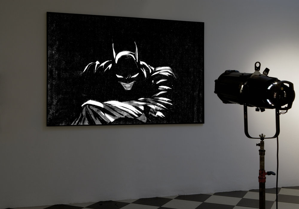 DON'T FORGET THE JOKER 1 , 2006 . Print on pvc and projection. Print : 168x251x5 cm. Photo: Claudio Abate
