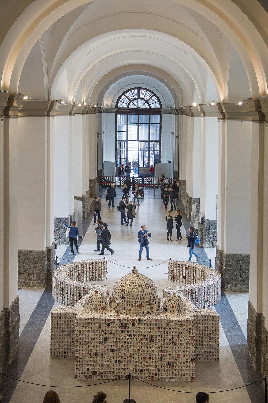 All Is Violent, All Is Bright , 2009 . MANN - Museo Archeologico Nazionale di Napoli, Naples 2016. Installation view. Photo: Sergio Vecia