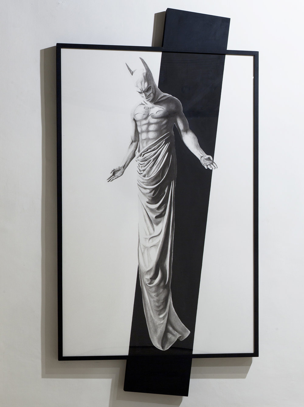 In Excelsis 3 , 2011 . Charcoal, paper, wood, enamel paint, 280x144x7 cm. Photo: Claudio Abate