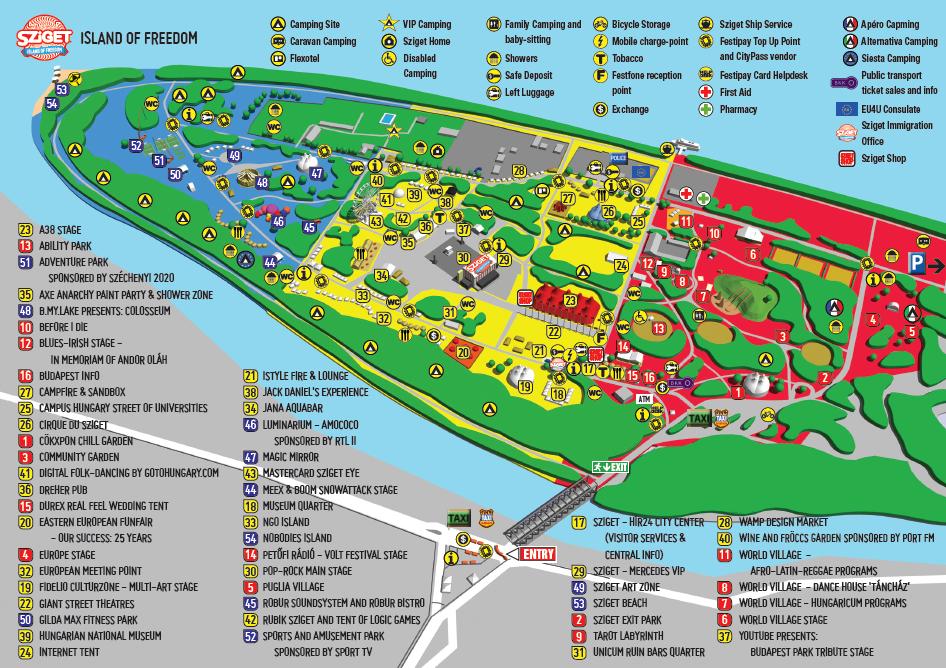 sziget map
