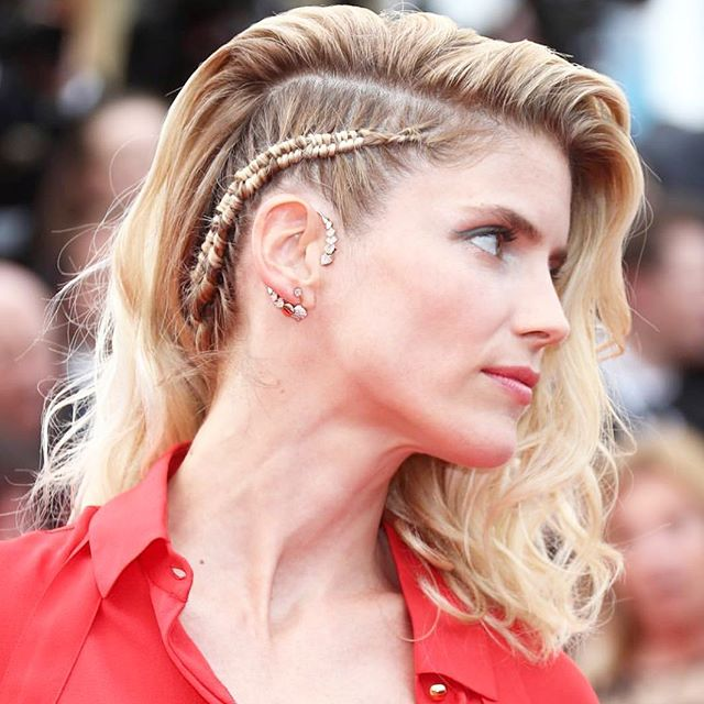 French actress @alicetaglioni_officiel has chosen this amazing earing by @akillisparis at @festivaldecannes . . . . . . . #jewelryaddict #jewelrygram #frenchjewelry #frenchstyle #artisanfrancais