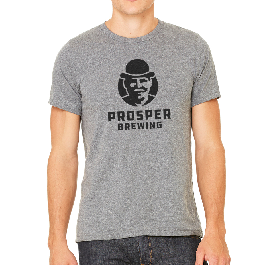 AVAILABLE NOW: SHIRTS! - Get your hands on the first run of these Prosper Brewing shirts— available in grey, green, and brown. Shop now >>