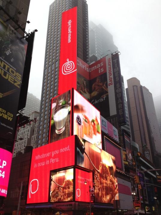Marca Perú en Times Square