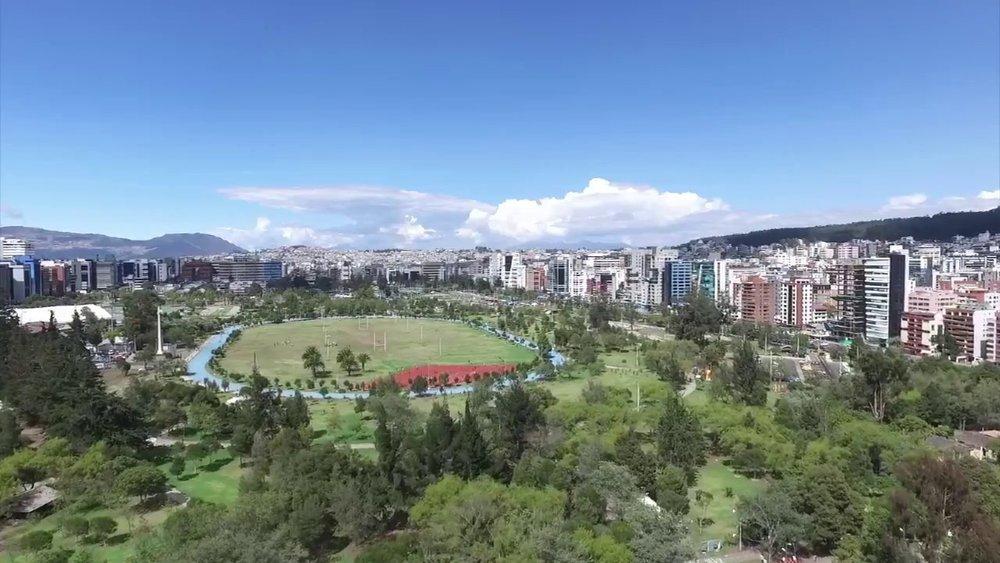 Vista parcial del Parque La Carolina, en Quito. Un pulmón en la ciudad.