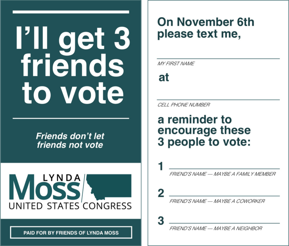 In Person - Anywhere your staff or volunteers meet voters, you can recruit Vote Triplers - at events, on canvasses, etc.We provide instructions and templates to help you get started.
