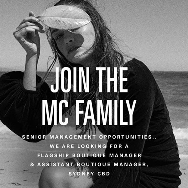 💥 SYDNEY 💥 Senior Management Opportunities with Australia's best in luxury fashion, @manningcartell 💫  Head to www.manningcartell.com.au/careers to apply! ⭐️