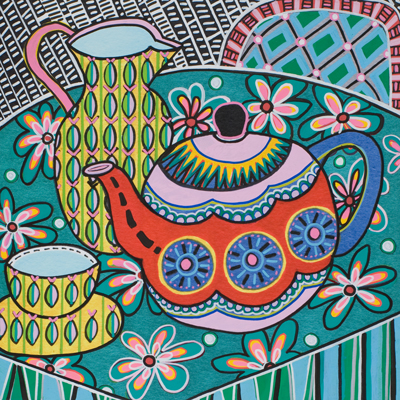 Folk Art Teaset