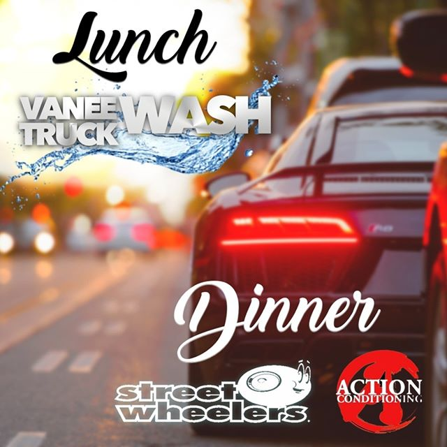 You know it's a good day when it's #friday  Also, when we're out for lunch + dinner! Come check us out at Vanee Truck Wash for lunch. Then we heat things up tonight at #streetwheelers2018 parked next to @actionconditioningltd