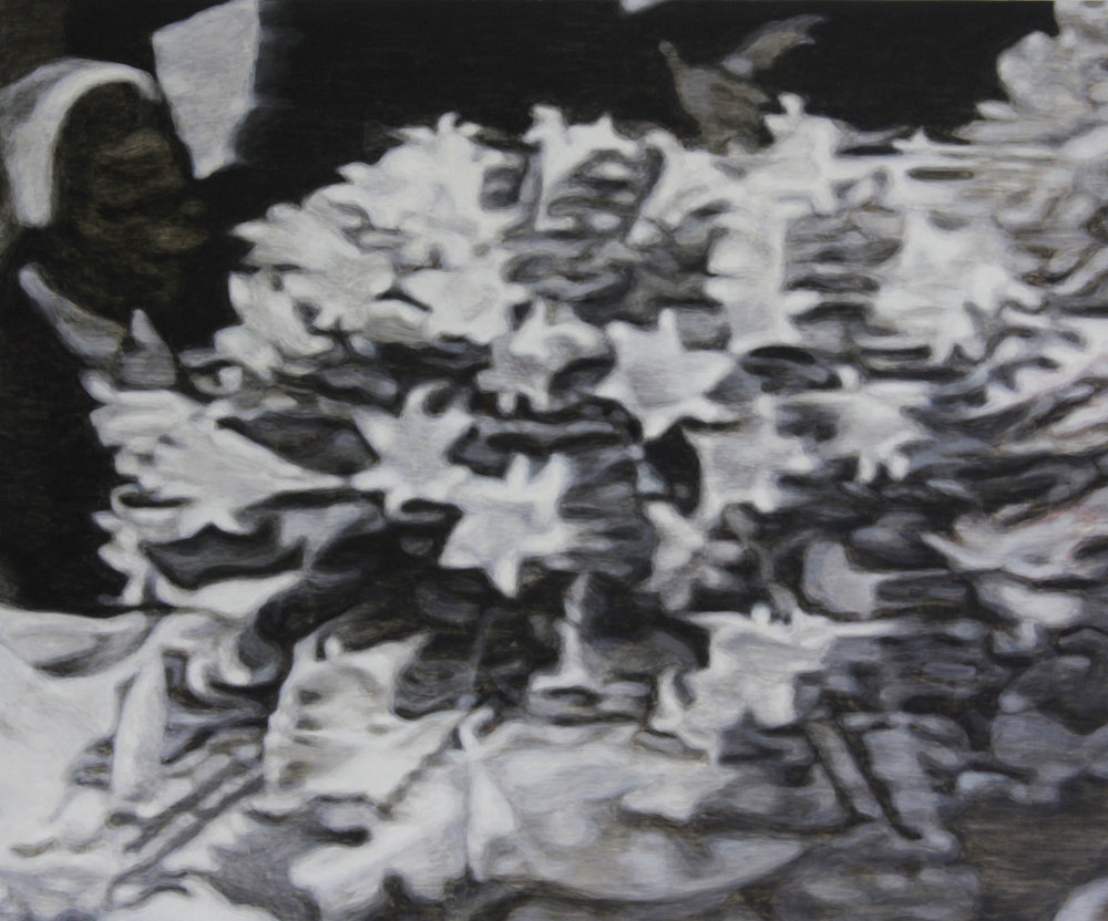 Szelit_The detail of news photo from Diana's funeral (painting).jpg