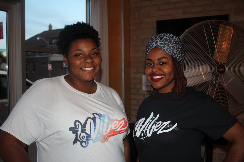 Setirah McDade (left) and Chrishella Roché (right).