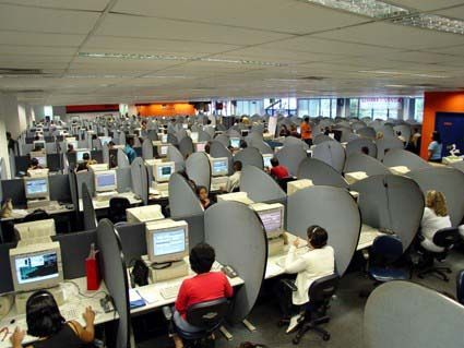A picture of a call center a great place for bed bugs