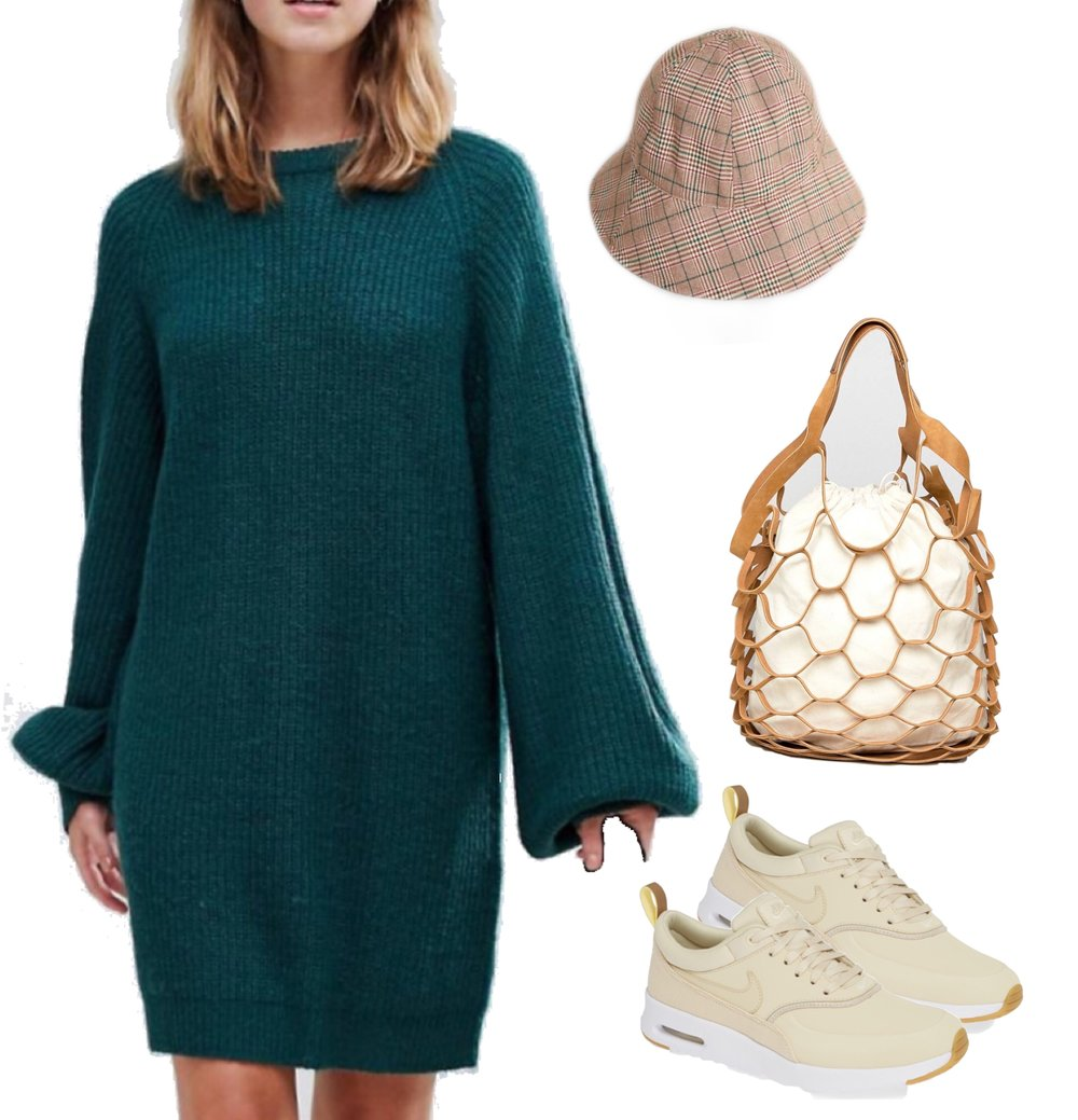 3001a36d12e My Accessories London check oversized bucket hat -   19 Brave Soul Lulu  Sweater Dress with