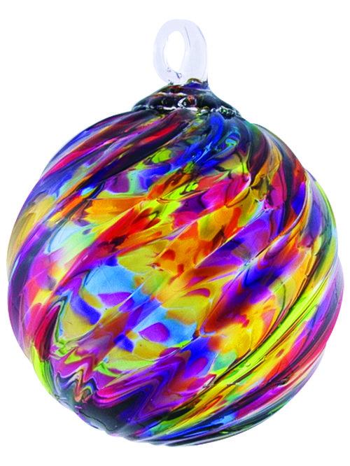 rainbow twist classic ornament series glass eye studio - Glass Eye Studio