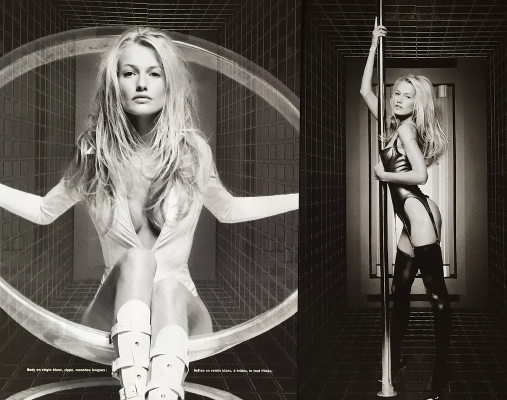 KAREN MULDER DETOUR MAGAZINE - PHOTO: THIERY LE GOUES 1998