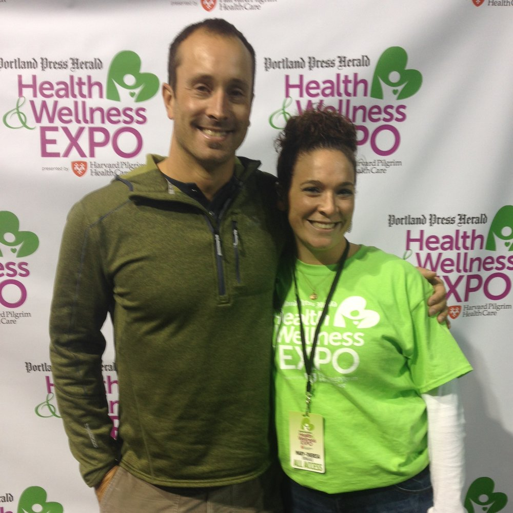 Portland Press Herald Health & Wellness Expo with Olympian Seth Wescott